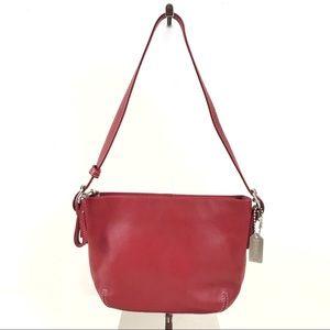 Coach Leather Mini Shoulder Bag Wristlet